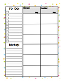 Weekly Day Planner - 6 Blocks