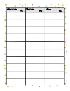 Weekly Day Planner - 10 Blocks