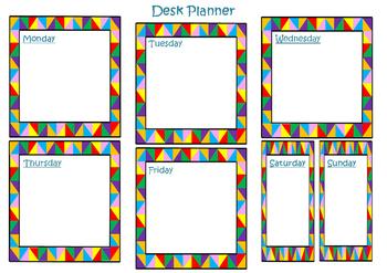 Weekly Desk Planner