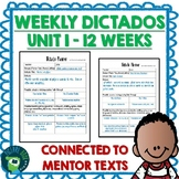 Spanish Weekly Dictado Lesson Plans (Mentor Sentence Mania Unit 1)