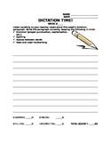 Weekly Dictation Paragraph Quiz