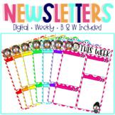 Weekly Digital Newsletters (Editable)