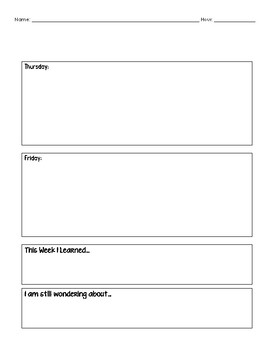 Weekly Do Now Form