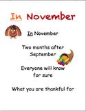 Sight Word Poems- November, December (Dolch)