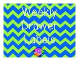 Weekly Drawer Labels