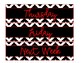 Sterilite Drawer Labels-Black and White Chevron with a Pop of Red