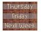 Weekly Drawer Labels-Brown Beach Wood