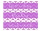 Weekly Drawer Labels-Purple and White Chevron with White Text