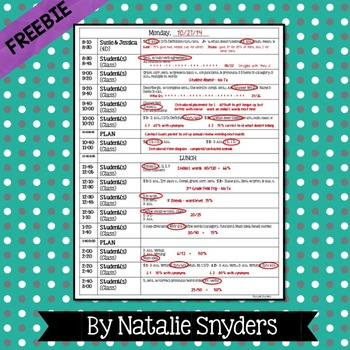 Weekly Editable Data Sheets for SLPs - Freebie