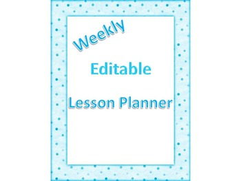 Weekly Editable Lesson Planner Template