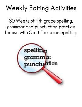 30 Weeks of 4th Grade Editing Practice {FREE}