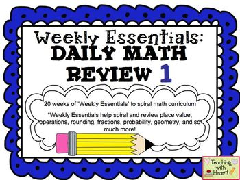Weekly Essentials: Daily Math Review 1