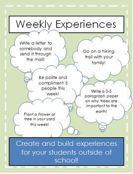 Weekly Experiences