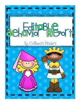 Editable Behavior Report