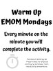Weekly Fitness Management Posters