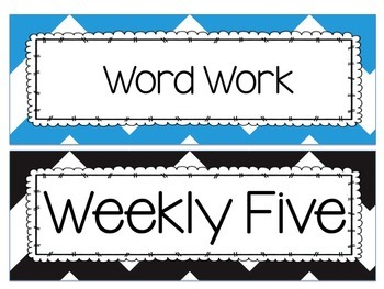 Weekly Five Signs