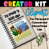 Ocean Themed TPT BOOM Maker Kit | KGJ Clipart