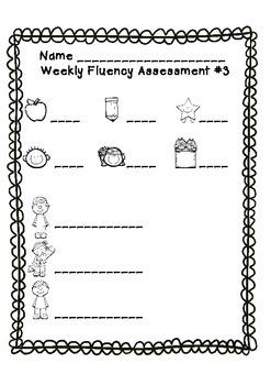 Weekly Fluency Checks for Kindergarten Literacy