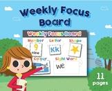 Weekly Focus Board, Colorful Board, Organization, Preschoo
