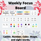 Weekly Focus Bulletin Board For Toddler and Preschool Home