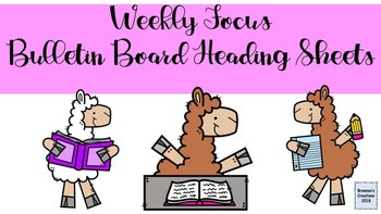 Weekly Focus Bulletin Board Heading Posters