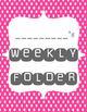 Weekly Folder Cover