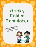 Weekly Folder Templates