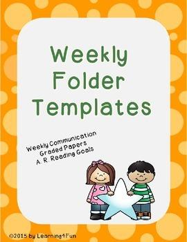 Weekly Folder Templates