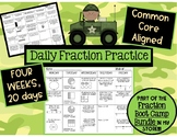 Weekly Fraction Practice, Morning Work or Quick Checks