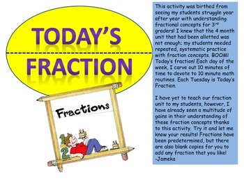 Weekly Fraction Spiral Review Set- 26 pages!