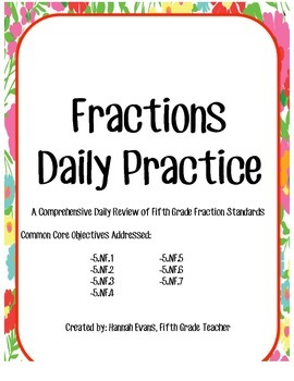 Weekly Fractions Practice