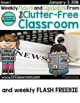 Weekly Free Resource from The Clutter-Free Classroom