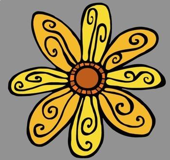 Funky Flowers Clip Art (Free!)