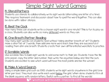 Sight Words Read and Write Practice Booklets -100 Sight Words