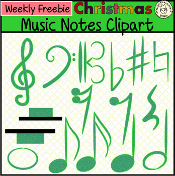 Christmas Music Clipart.Christmas Notes Music Clipart By
