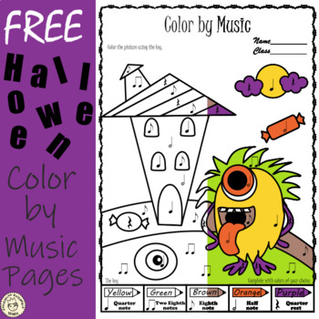 Weekly Freebies: Halloween Music Coloring Pages