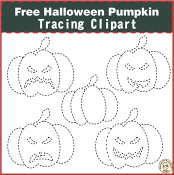 Halloween Tracing Pumpkin Clipart {Weekly Freebies}