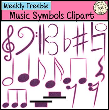 Weekly Freebies Music Symbols Clipart