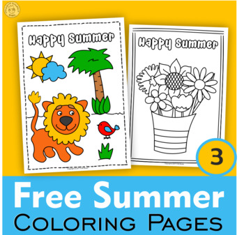 Weekly Freebies Summer Coloring pages