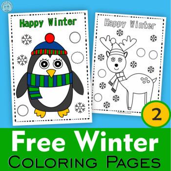 Winter Coloring Pages Weekly Freebies By Anastasiya Multimedia Studio
