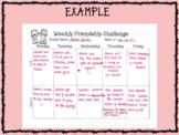 Weekly Friendship Challenge