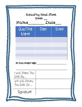 photograph regarding Weekly Goal Sheets named Weekly Purpose Surroundings Sheets For Learners Worksheets