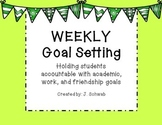 Weekly Goal Setting Template