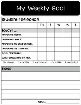 Weekly Goal Sheets - FREEBIE