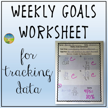 image relating to Weekly Goals Template named Weekly Ambitions Worksheet