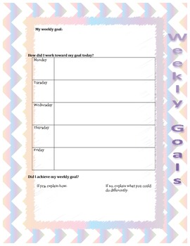 Weekly Goal-setting Sheet
