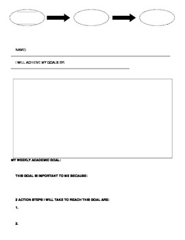 Weekly Goals Worksheet