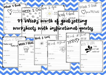 Weekly goal setting w/ motivational quotes - Term 1