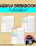 Weekly Gradebook**Editable**