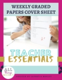 Weekly Graded Papers Cover Sheet